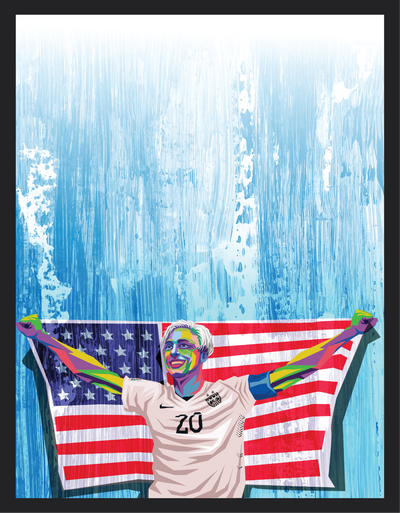 Iconic Abby Wambach Poster - Football Iconz