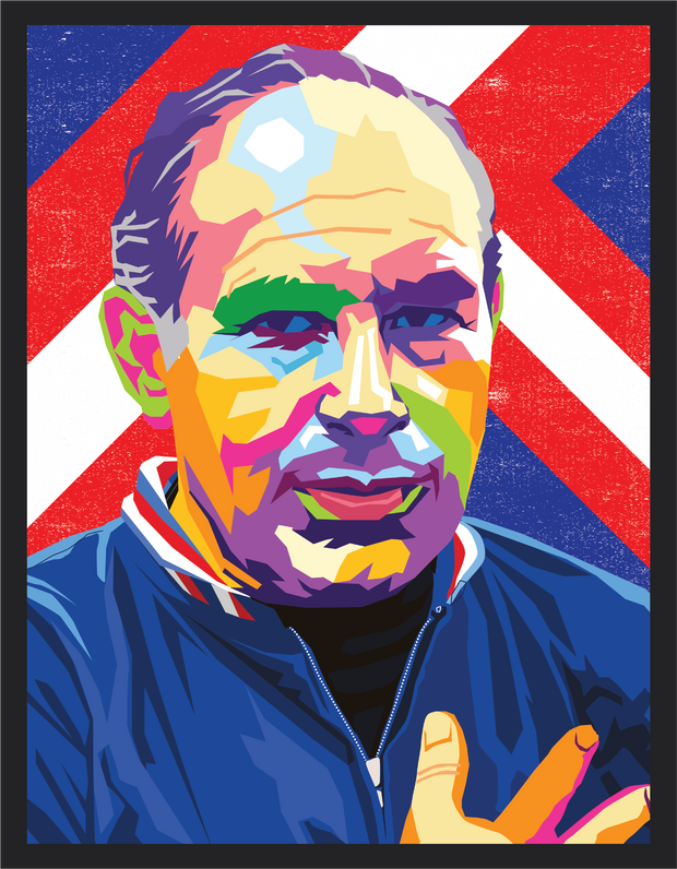 Iconic Sir Alf Ramsey Poster - Football Iconz