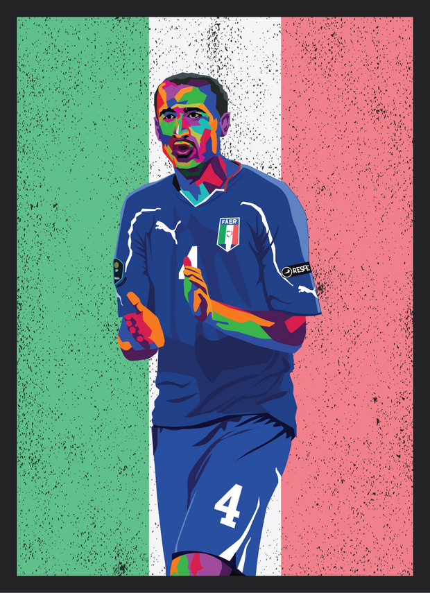 Iconic Giorgio Chiellini Poster - Football Iconz