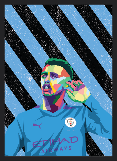 Iconic Phil Foden Poster - Football Iconz