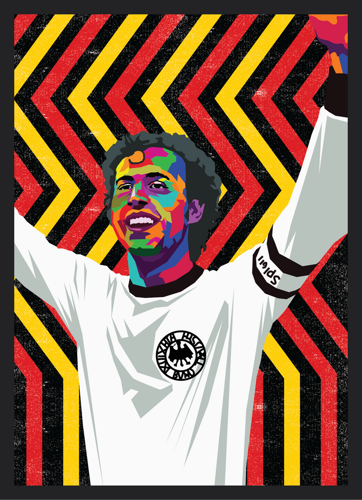 Iconic Franz Beckenbauer Poster - Football Iconz