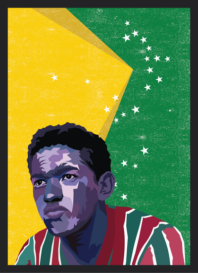 Iconic Garrincha Poster - Football Iconz