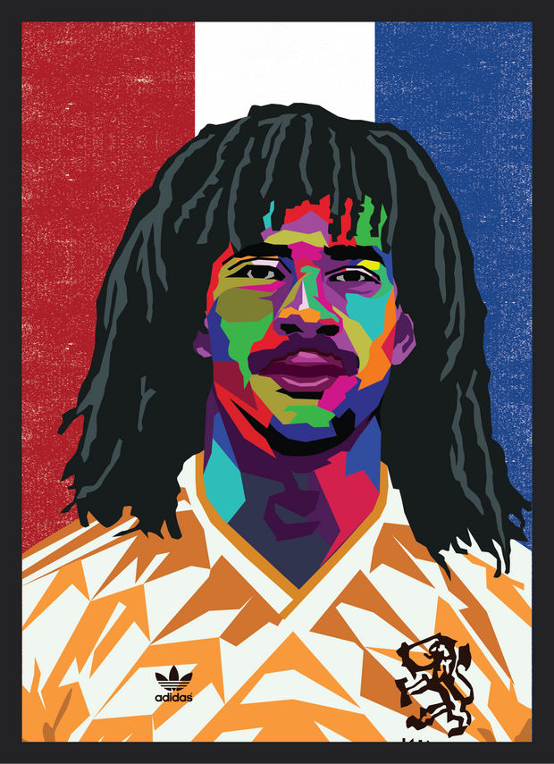 Iconic Ruud Gullit Poster - Football Iconz