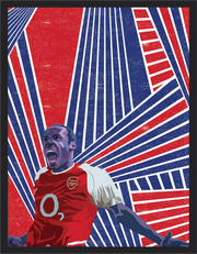 Iconic Thierry Henry Poster - Football Iconz