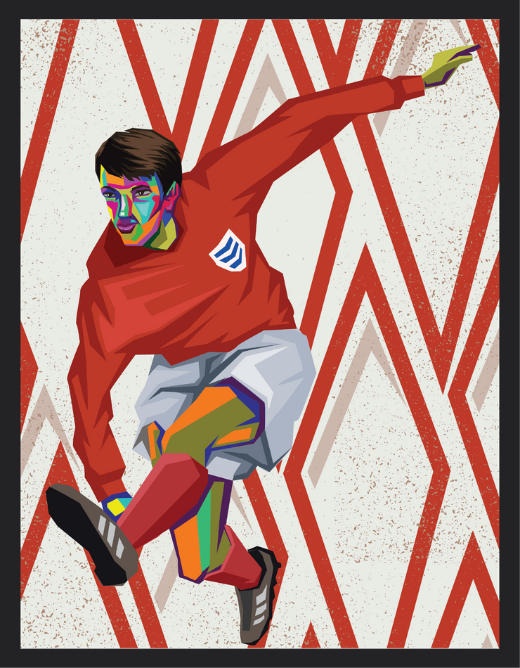 Iconic Geoff Hurst Poster - Football Iconz
