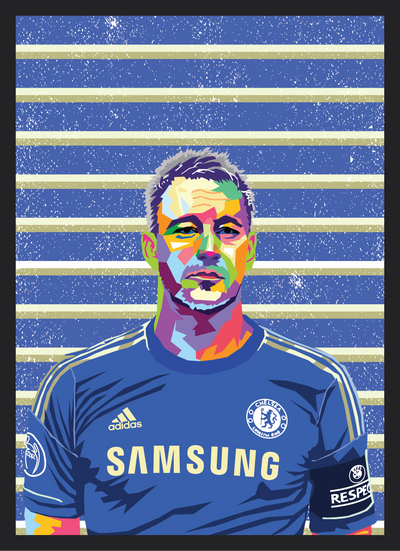 Iconic John Terry Poster - Football Iconz