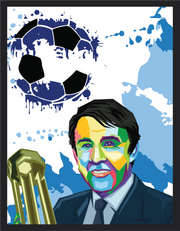 Iconic Howard Kendall Poster - Football Iconz