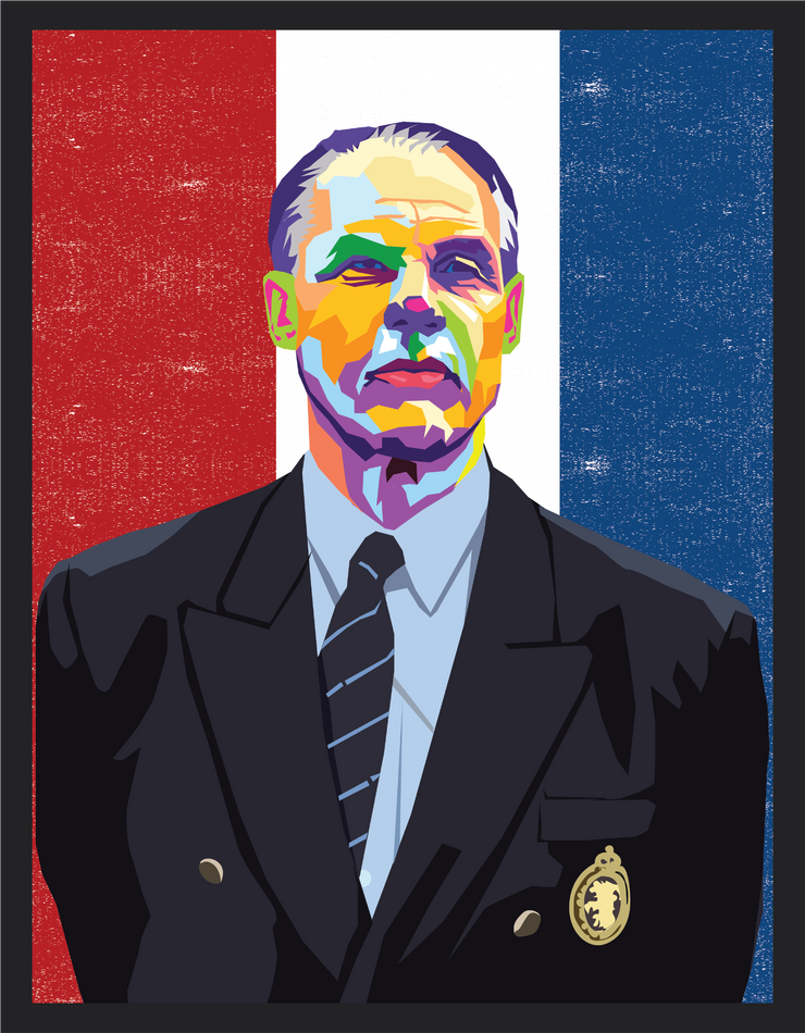 Iconic Rinus Michels Poster - Football Iconz