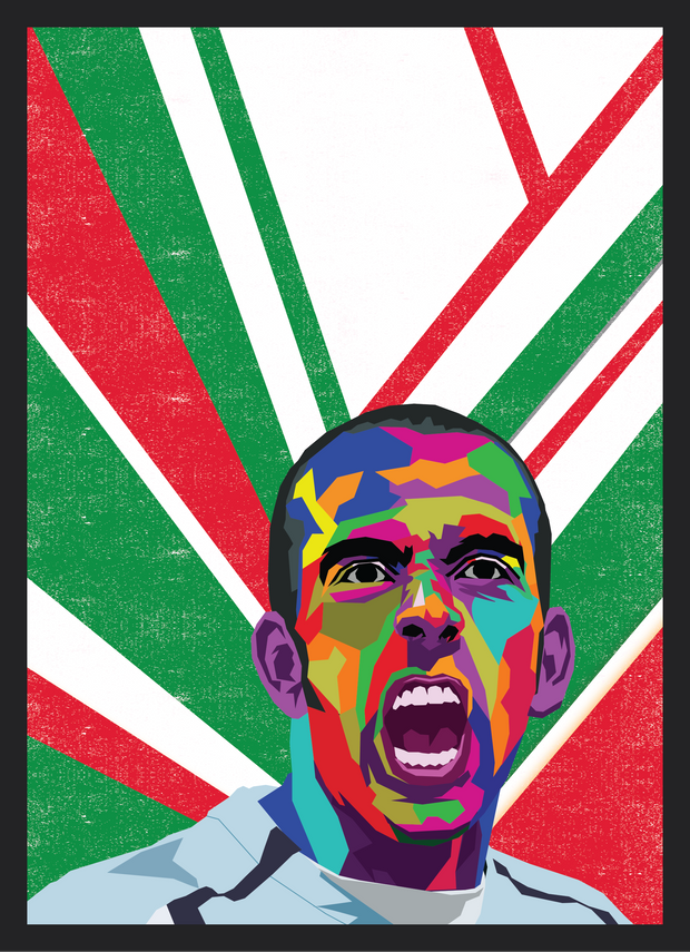 Iconic Paolo Di Canio Poster - Football Iconz