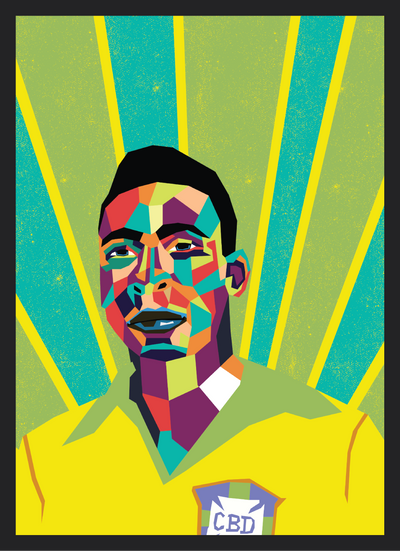 Iconic Pele Poster - Football Iconz