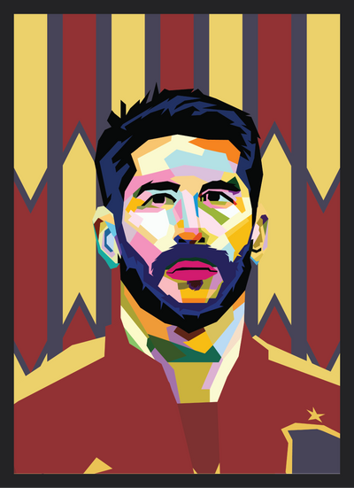 Iconic Sergio Ramos Poster - Football Iconz