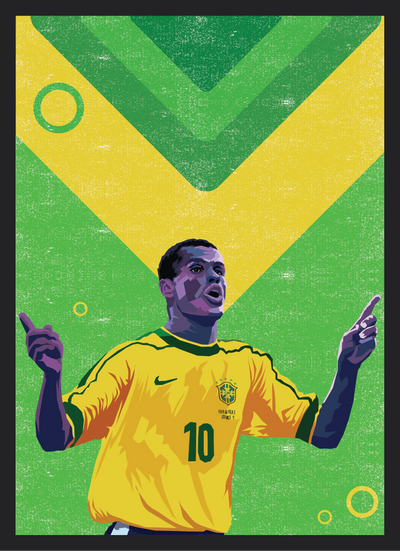 Iconic Rivaldo Poster - Football Iconz