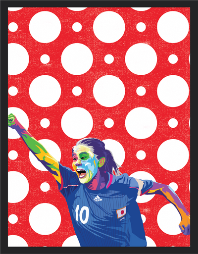 Iconic Homare Sawa Poster - Football Iconz