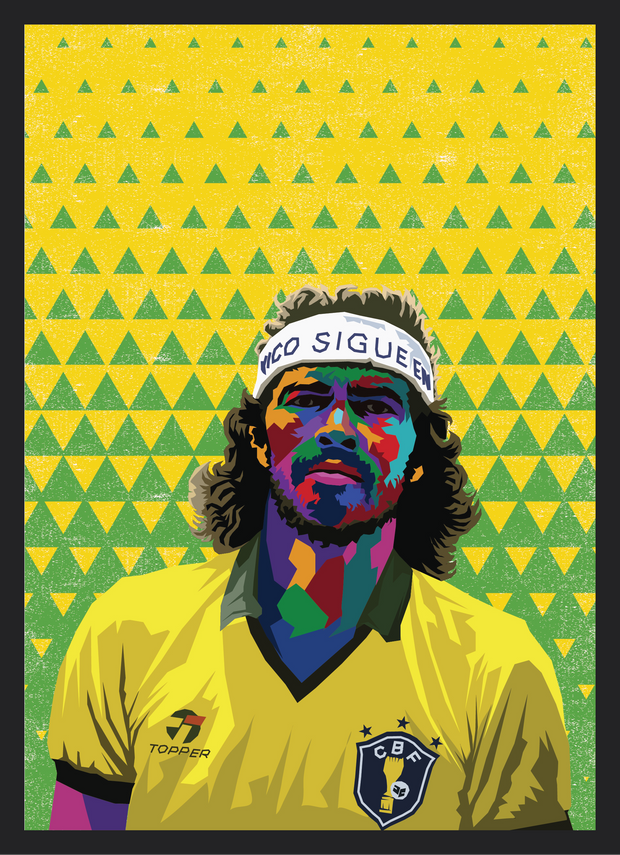 Iconic Socrates Poster - Football Iconz