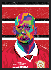 Iconic Jaap Stam Poster - Football Iconz