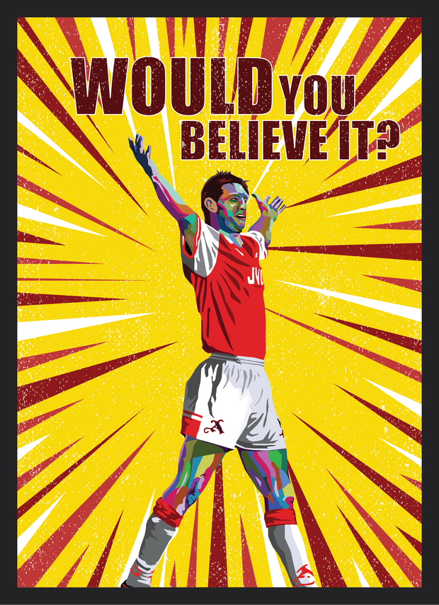 Iconic Tony Adams Poster - Football Iconz