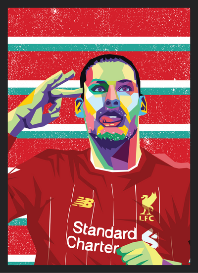 Iconic Virgil van Dijk Poster - Football Iconz