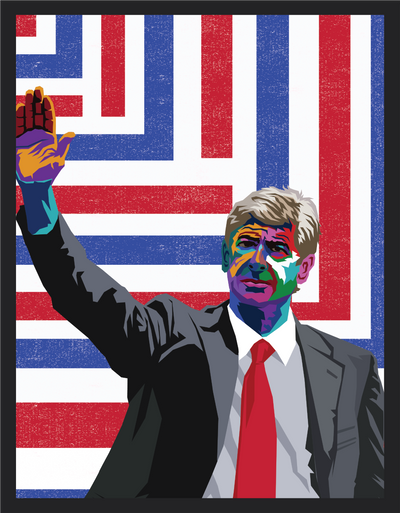 Iconic Arsene Wenger Poster - Football Iconz