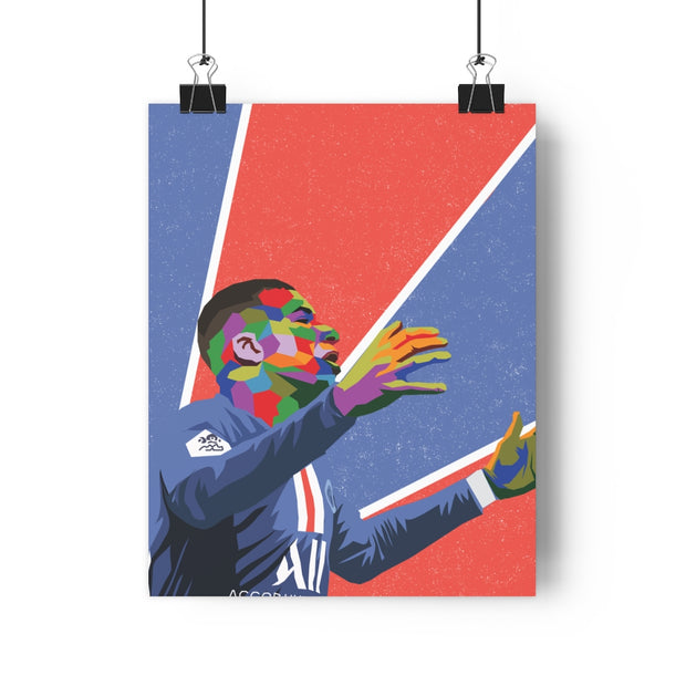 Iconic Kylian Mbappe Poster - Football Iconz