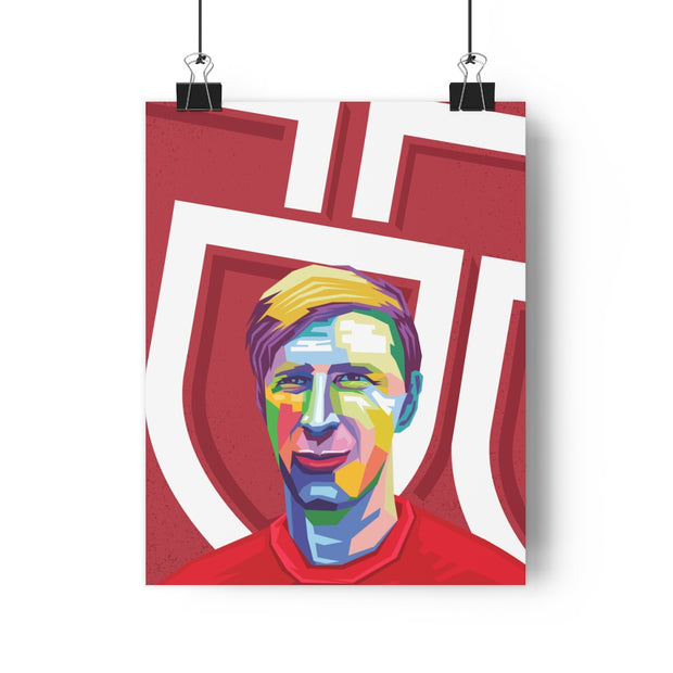 Iconic Jack Charlton Poster - Football Iconz