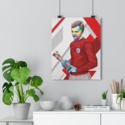 Iconic Bobby Moore Poster - Football Iconz