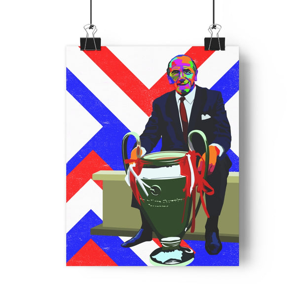 Iconic Sir Matt Busby Poster - Football Iconz