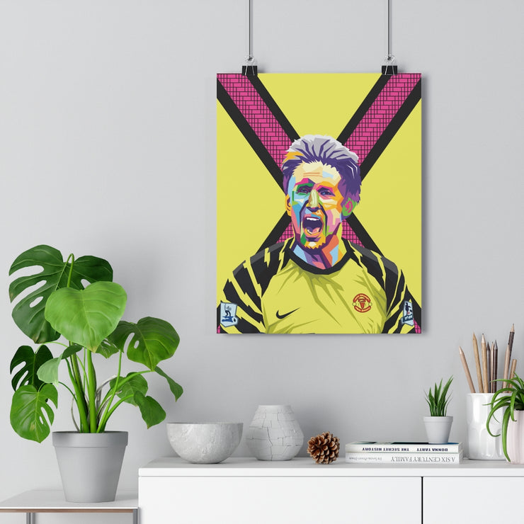 Iconic Edwin van der Sar Poster - Football Iconz