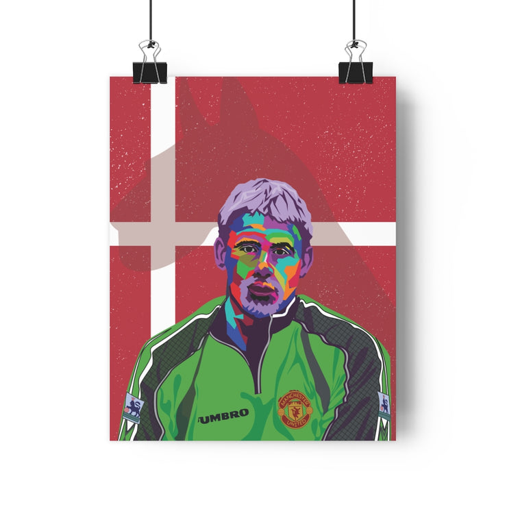 Iconic Peter Schmeichel Poster - Football Iconz