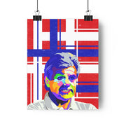 Iconic Terry Venables Poster - Football Iconz