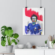 Iconic Michel Platini Poster - Football Iconz
