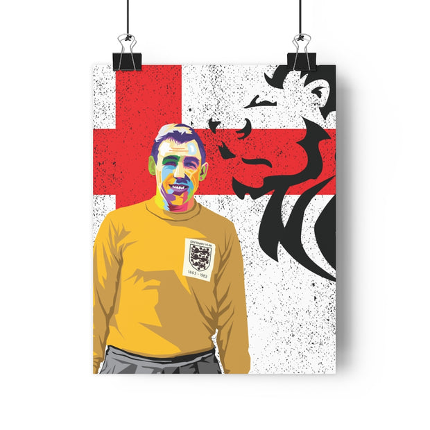Iconic Gordon Banks Poster - Football Iconz