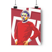 Iconic Denis Law Poster - Football Iconz