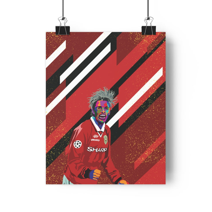 Iconic David Beckham Poster - Football Iconz
