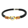 Aroma Black Leather Bracelet