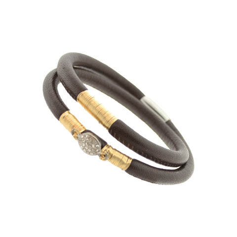 Chocolate Double Leather Bracelet