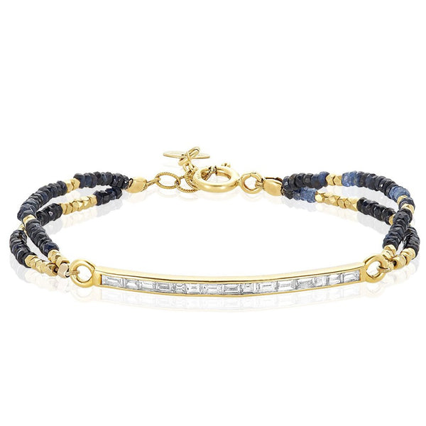 Connection Bracelet in Sapphire and Diamonds