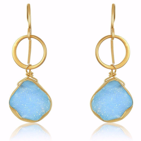 Blue Moon Druzy Earrings