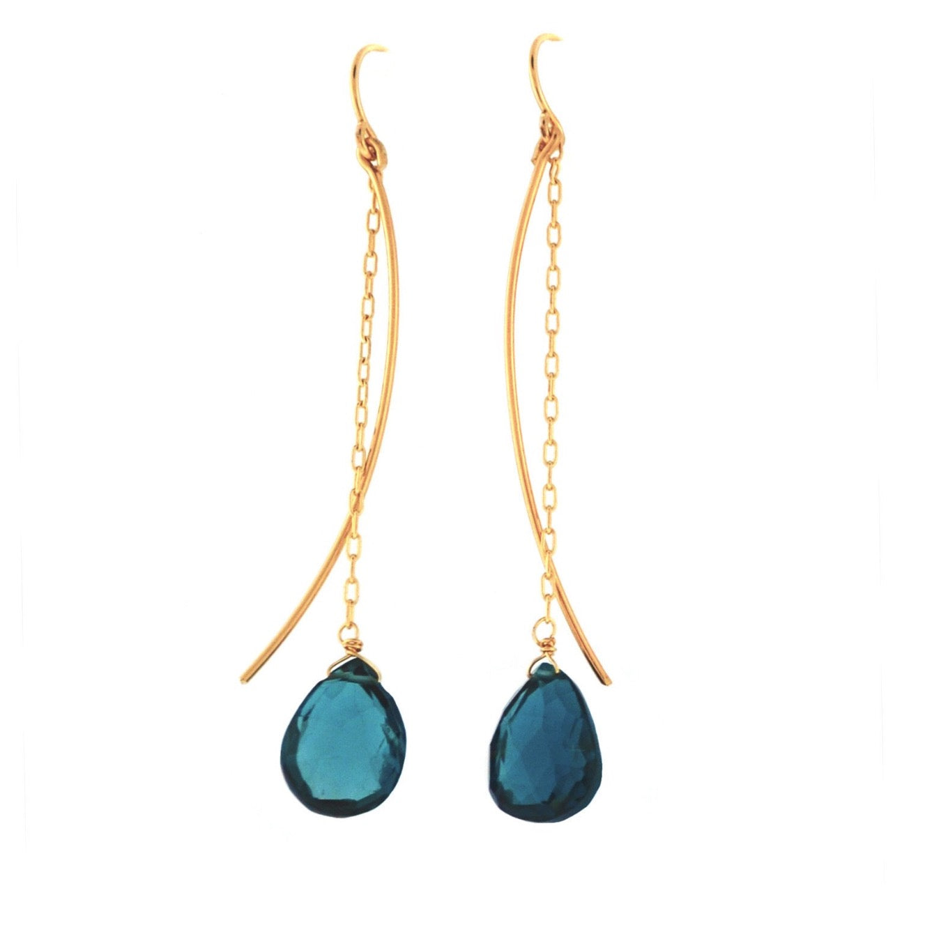 Charm School Earrings - London Blue Topaz
