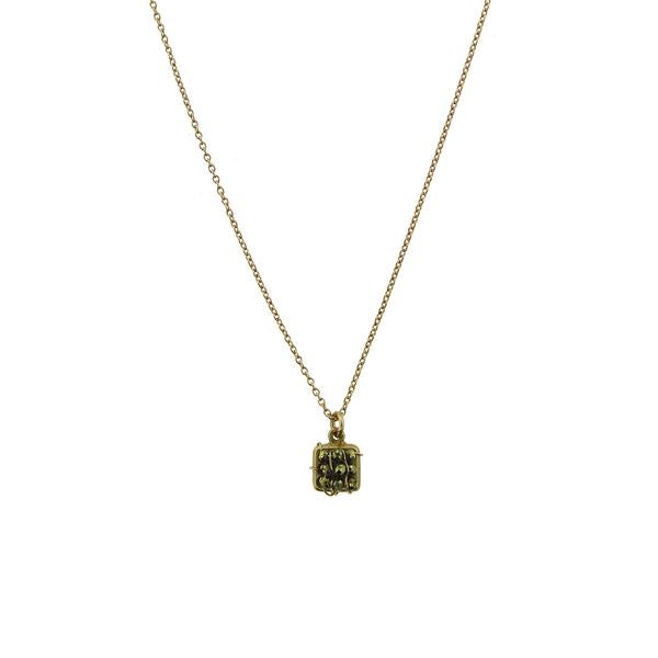 Domino Necklace - Pyrite