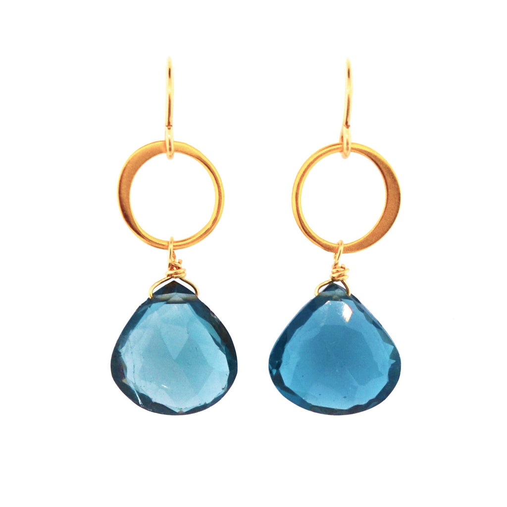 Blue Moon Gem Earrings