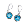Diva Swiss Blue Topaz Earrings