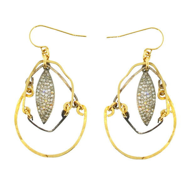 Eyes of Almond Diamond Earrings