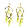 Lemon Quartz Chandelier Earrings