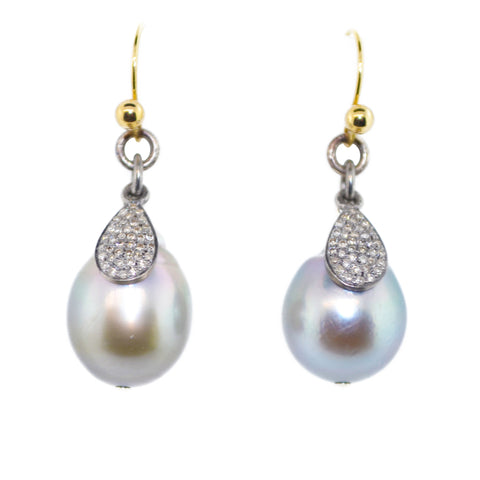 South South Sea Pearls with Pave Charms