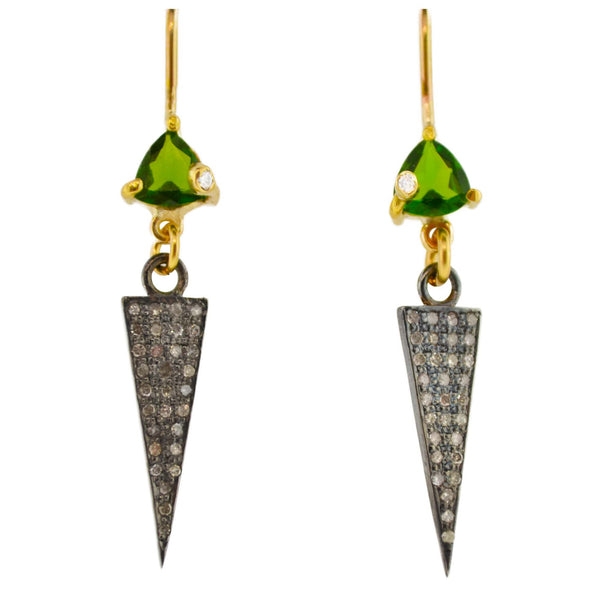 Triangle Spike Earrings