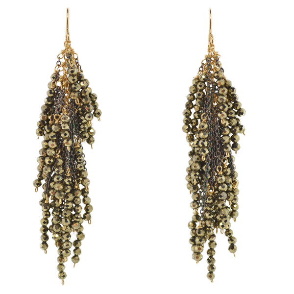 Pyrite Firecracker Earring