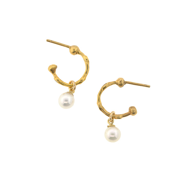 Pearls and Bamboo Earrings