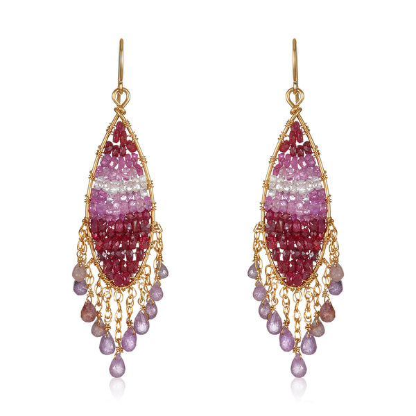 Glamour in Ruby Earrings