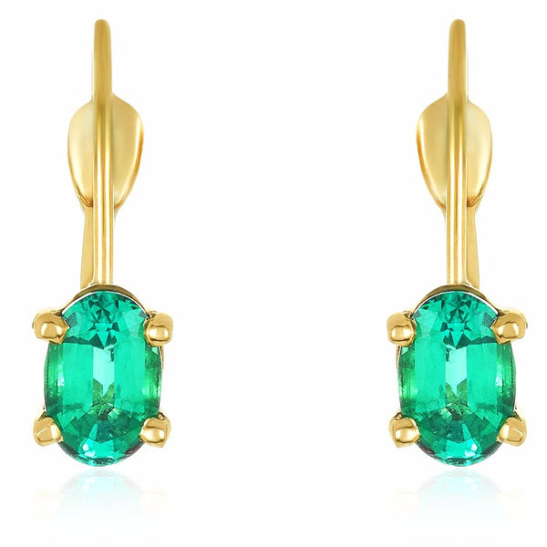 Petite Emerald Earrings