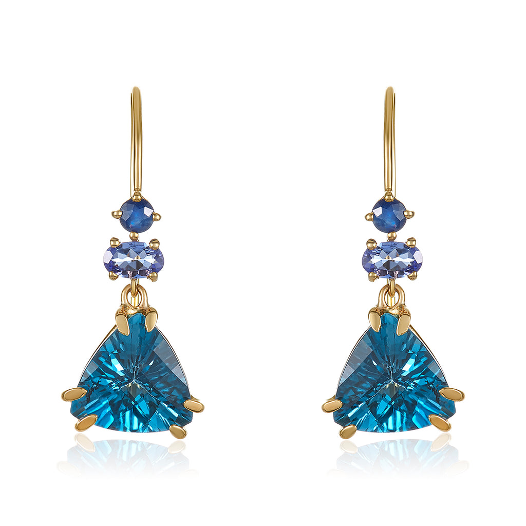 Frozen in Blue Earrings